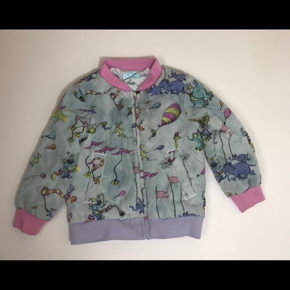 680f3fd3611 Dr. Seuss Girls Bomber Jacket 2t